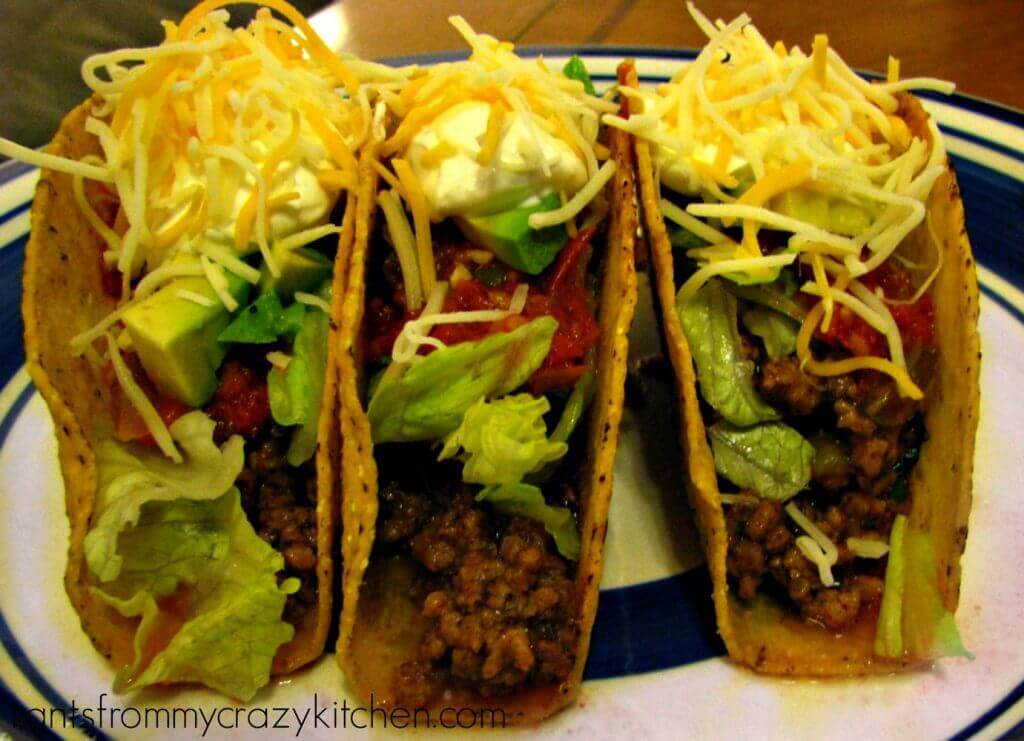 Ground Beef Tacos with Homemade Taco Seasoning and a Secret Subject ...