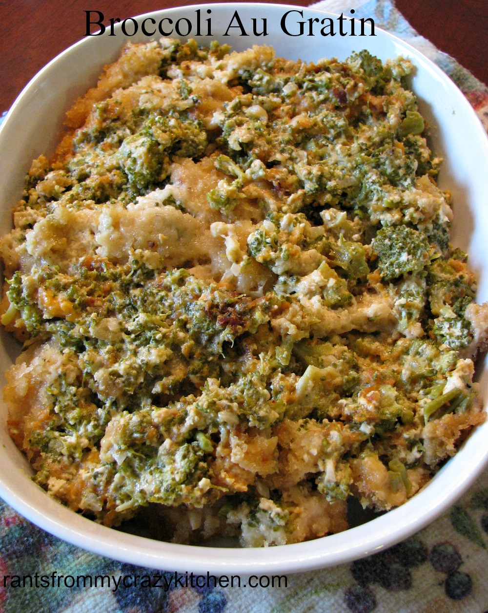 Slow Cooker Broccoli Au Gratin - Rants From My Crazy Kitchen