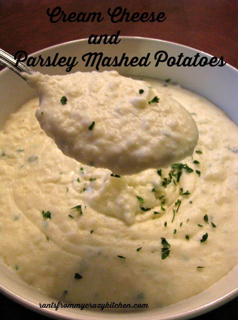 Cream Cheese and Parsley Mashed Potatoes