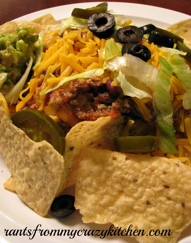 Ultimate Nachos with Easy Guacamole Close Up