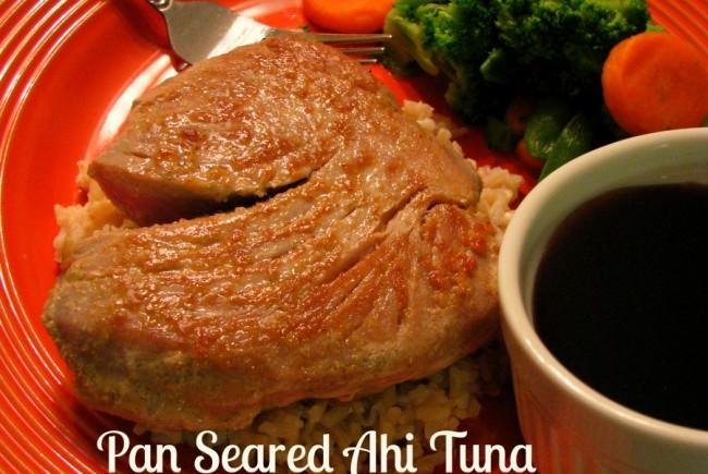 Pan Seared Ahi Tuna with Maple Sriracha Soy Dipping Sauce