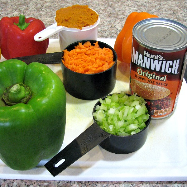 Sloppy Joe Stuffed Peppers Ingredients