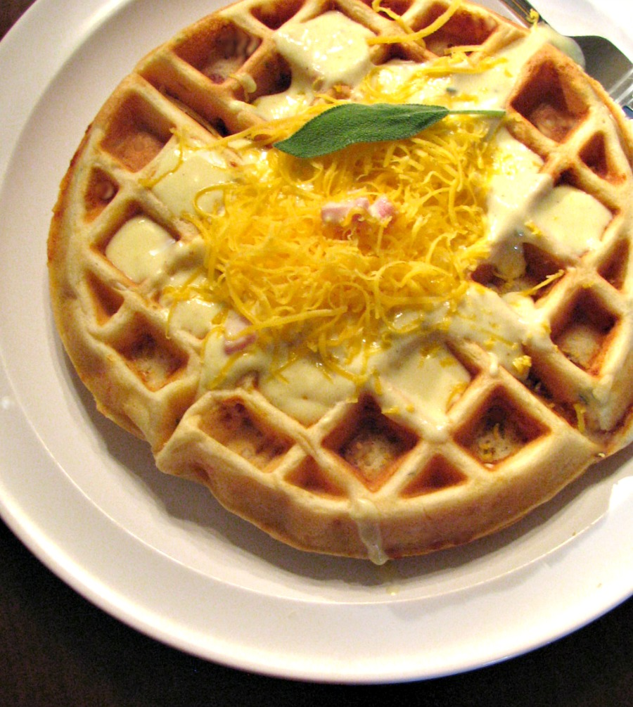 Savory Ham, Cheese and Sage Waffles for #SundaySupper - Rants From My ...